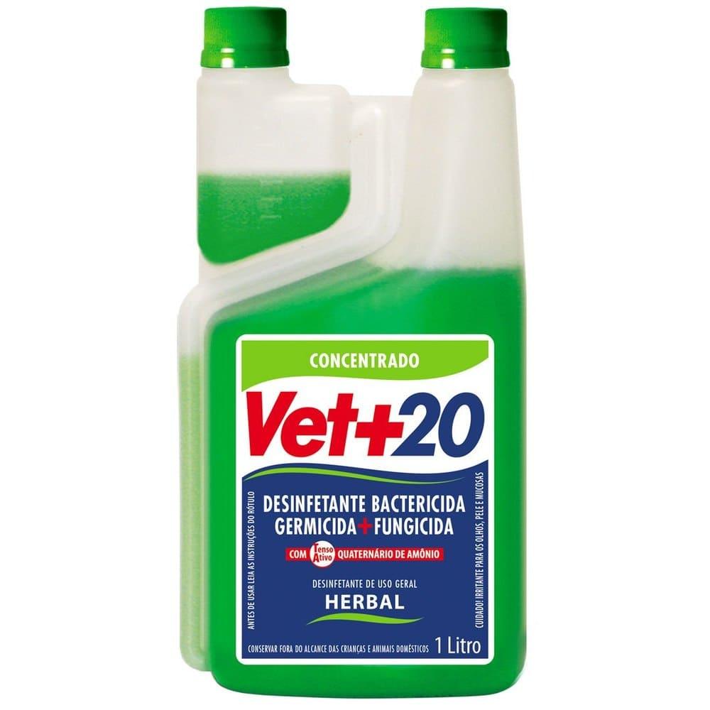 Desinfetante Concentrado Bactericida VET+20 Herbal 1L