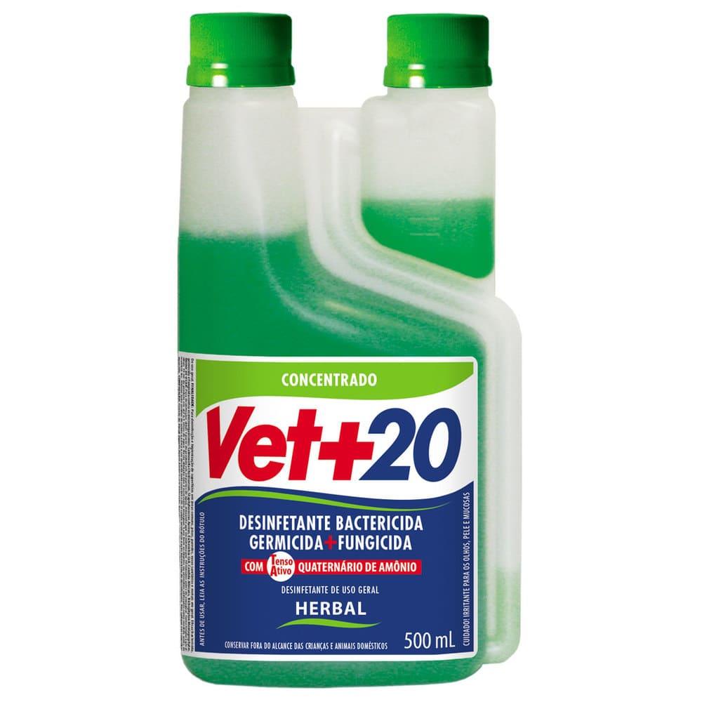 Desinfetante Concentrado Bactericida VET+20 Herbal 500ml