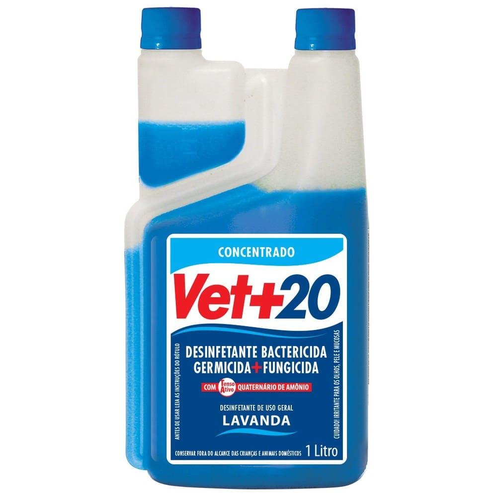 Desinfetante Concentrado Bactericida VET+20 Lavanda 1L