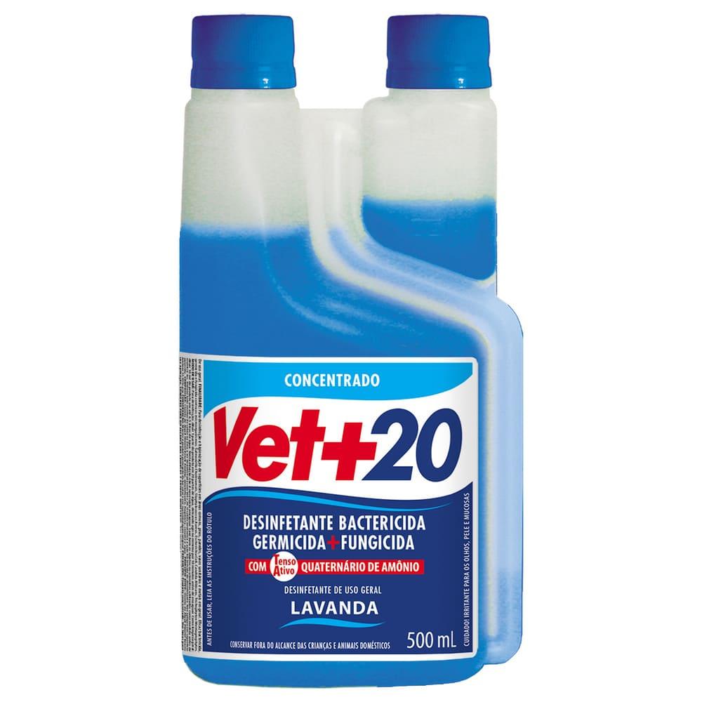 Desinfetante Concentrado Bactericida VET+20 Lavanda 500ml