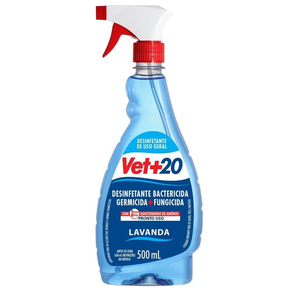 Desinfetante Pronto para Uso em Spray VET+20 Lavanda 500ml