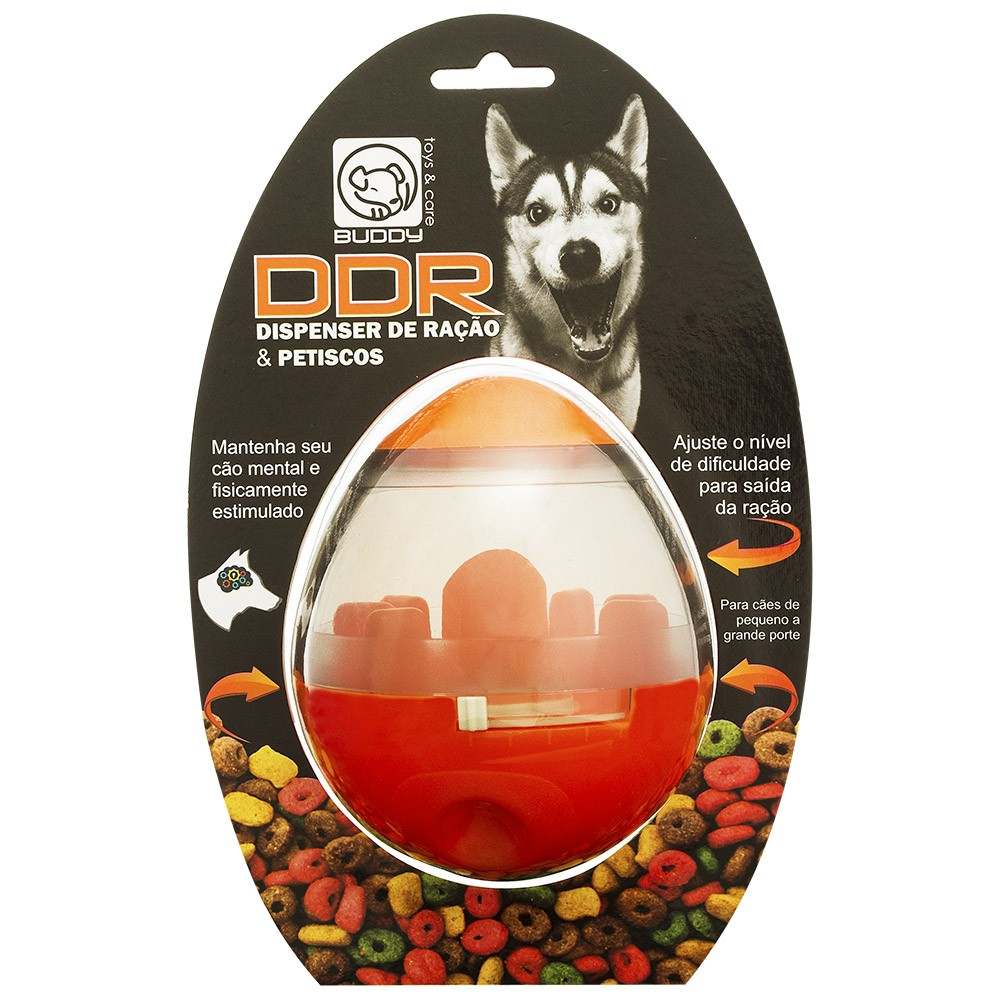 Dispenser Interativo de Ração e Petisco para Cães Buddy Toys DDR