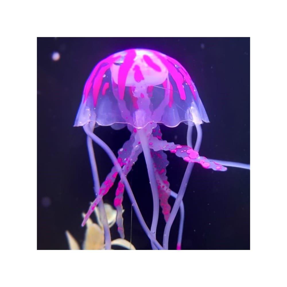 Enfeite Flutuante para Aquário Água Viva Brilhante Mini Pink