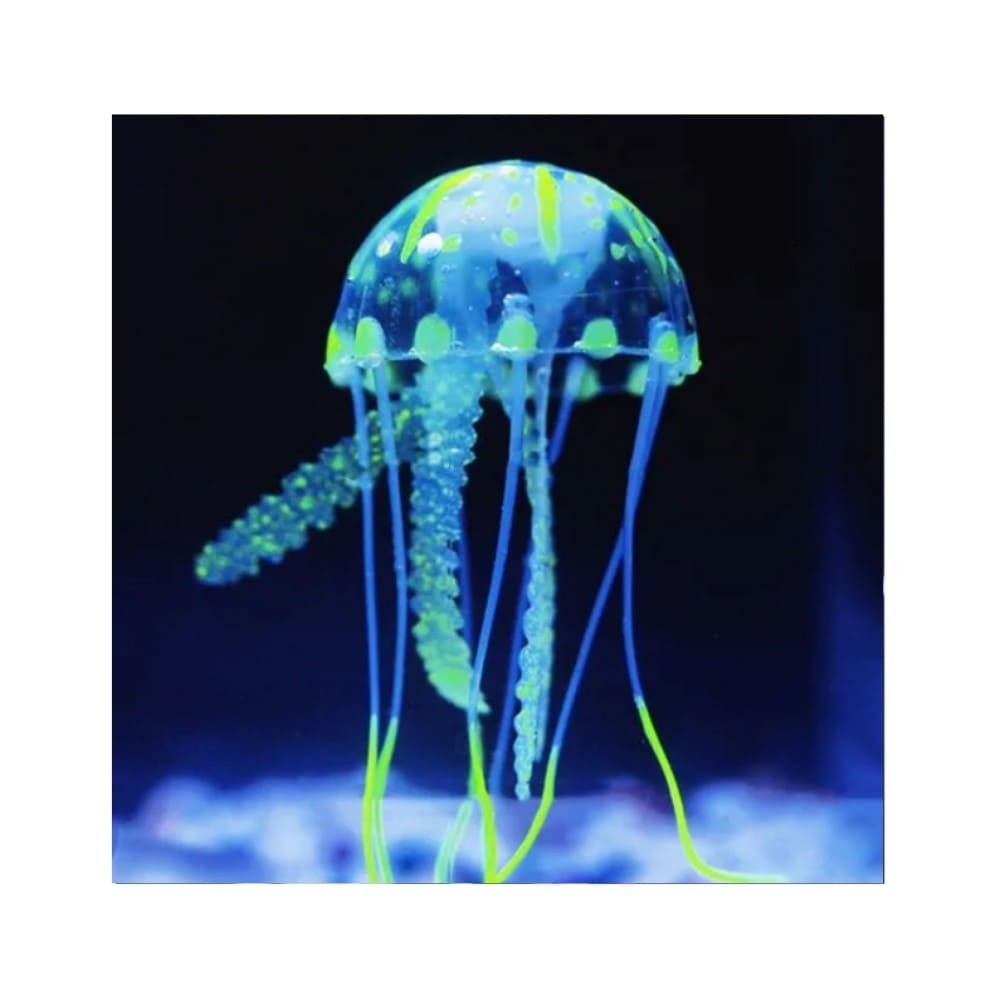Enfeite Flutuante para Aquário Água Viva Brilhante Mini Verde
