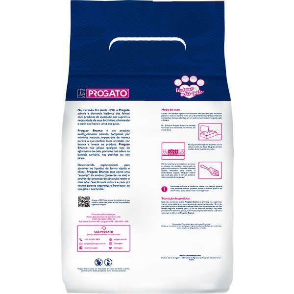 Granulado Sanitário Para Gatos Progato  Branco 1,8 Kg