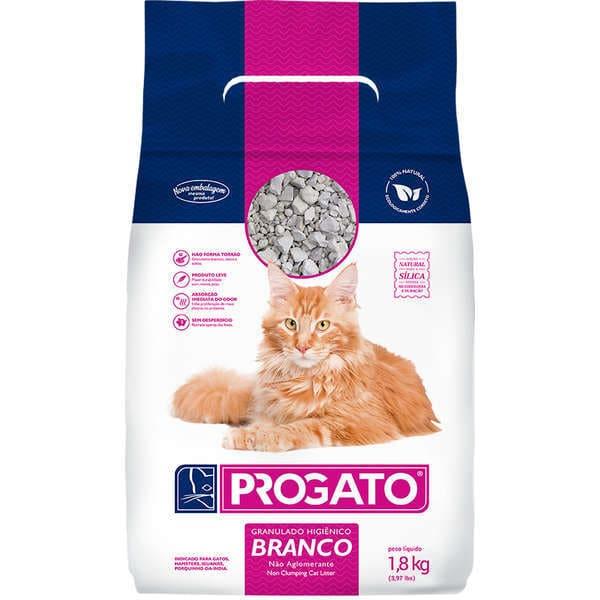 Granulado Sanitário Para Gatos Progato Grão Branco 1,8 Kg
