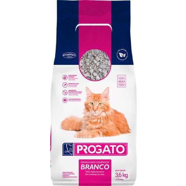 Granulado Sanitário Para Gatos Progato Grão Branco 3,6 Kg