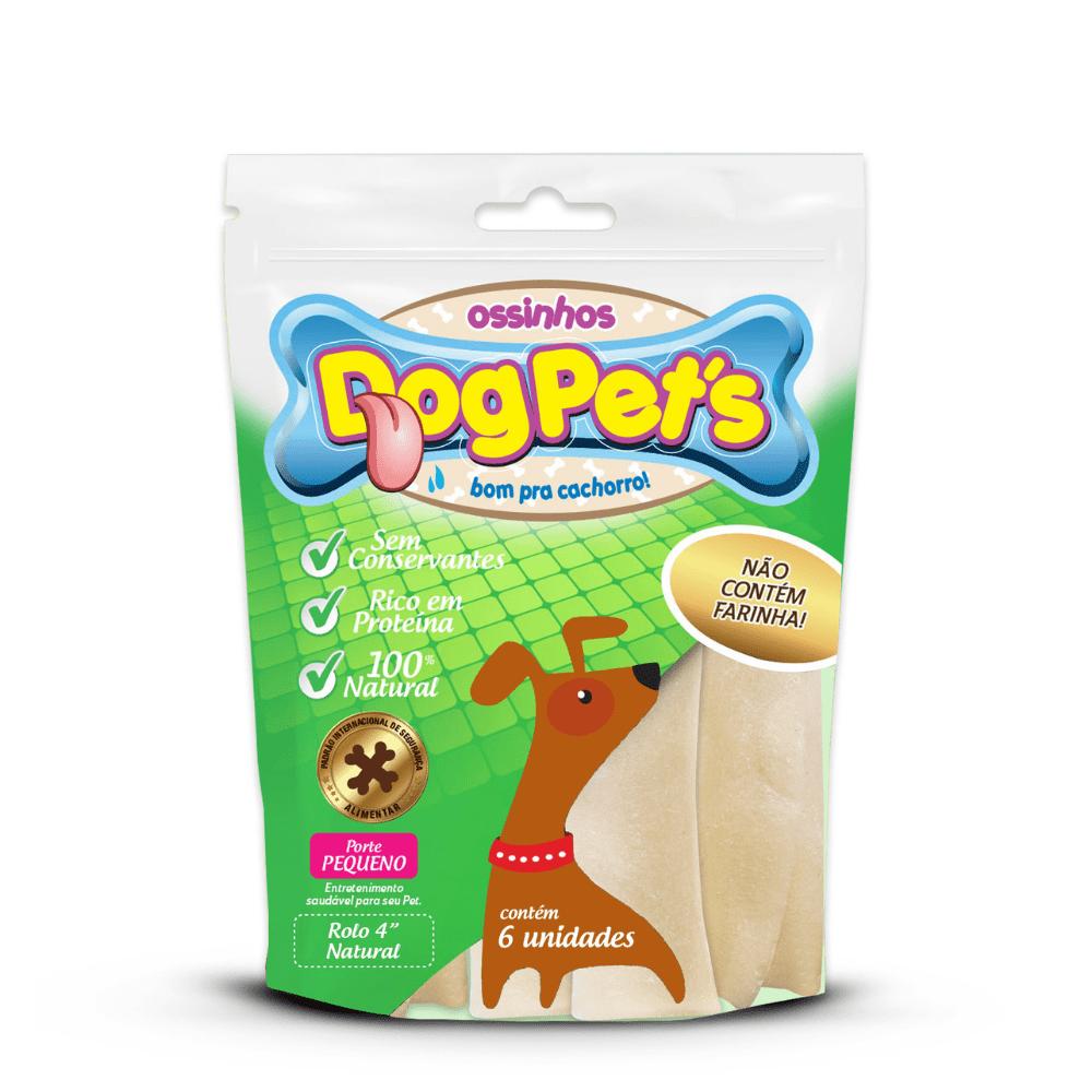 Ossinhos Dog Pet´s Rolo Natural de 9cm para Cães de Pequeno Porte