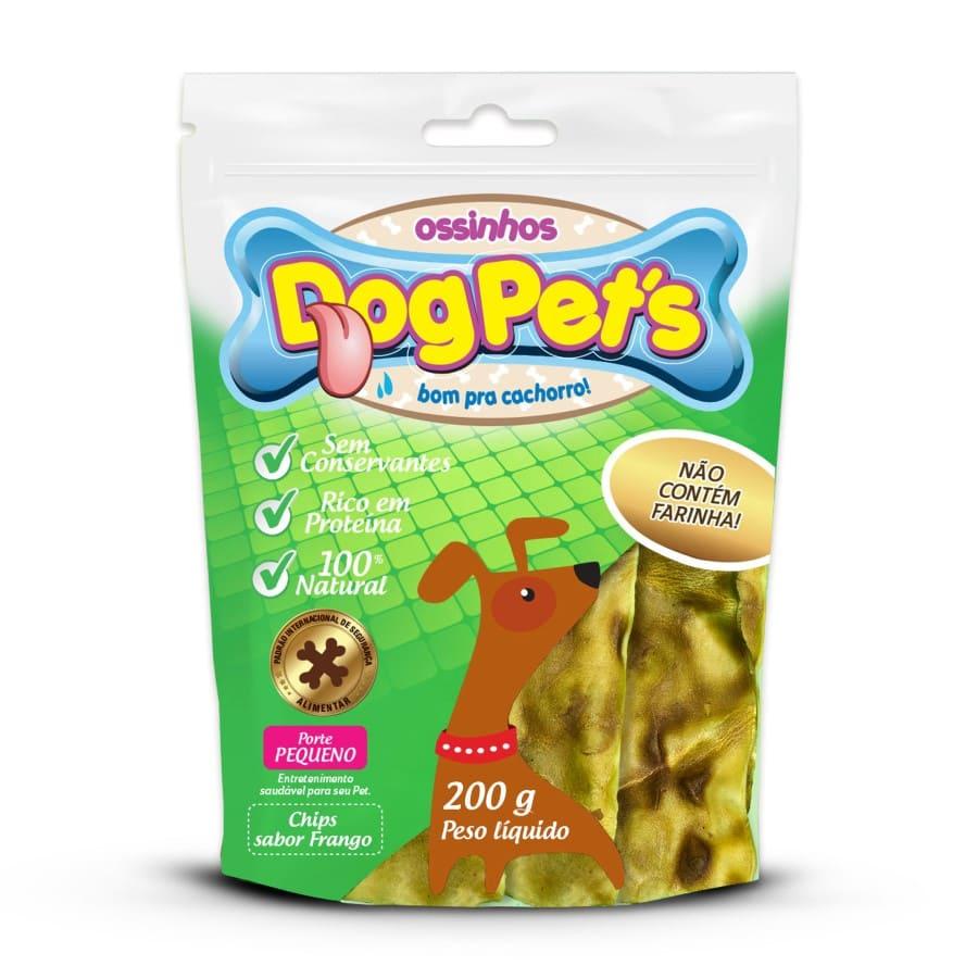 Ossinhos DogPets Chips Frango Cães Pequeno Porte 200 g