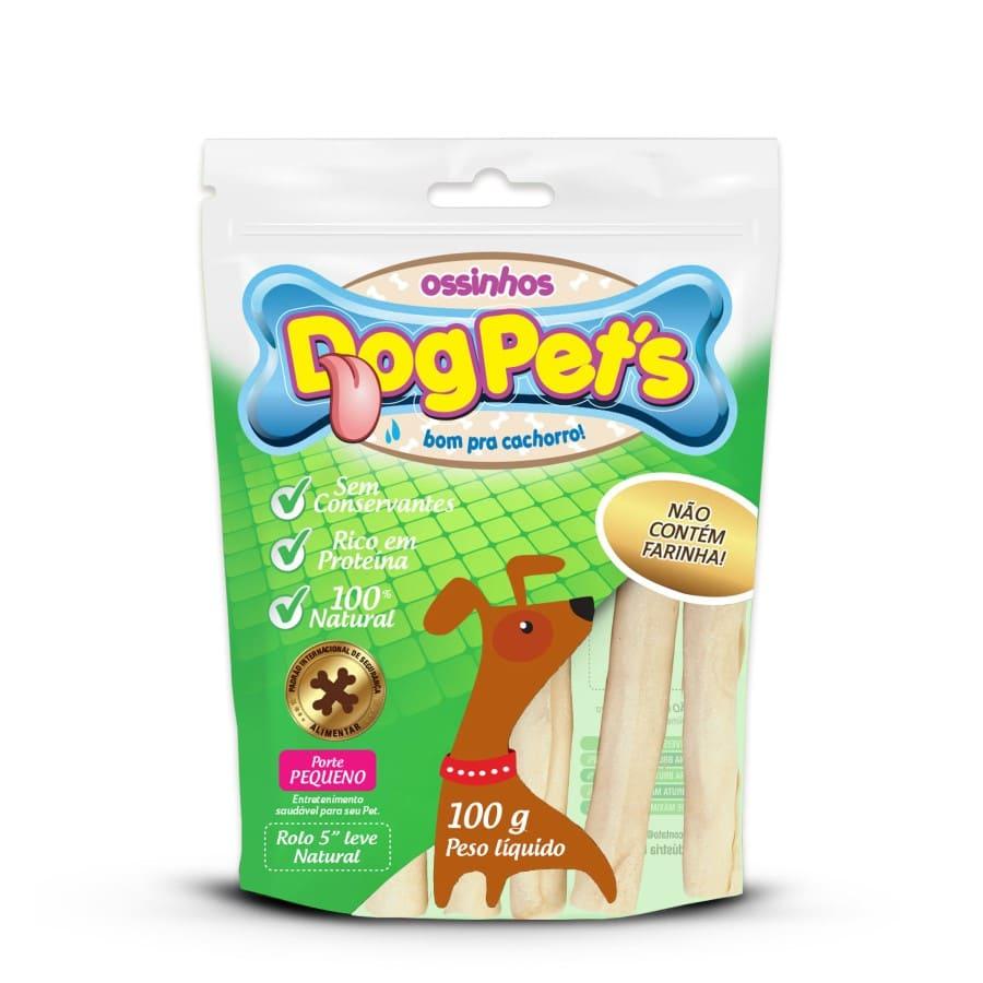 Ossinhos DogPets Rolo Natural 11cm Cães Pequeno Porte 100g