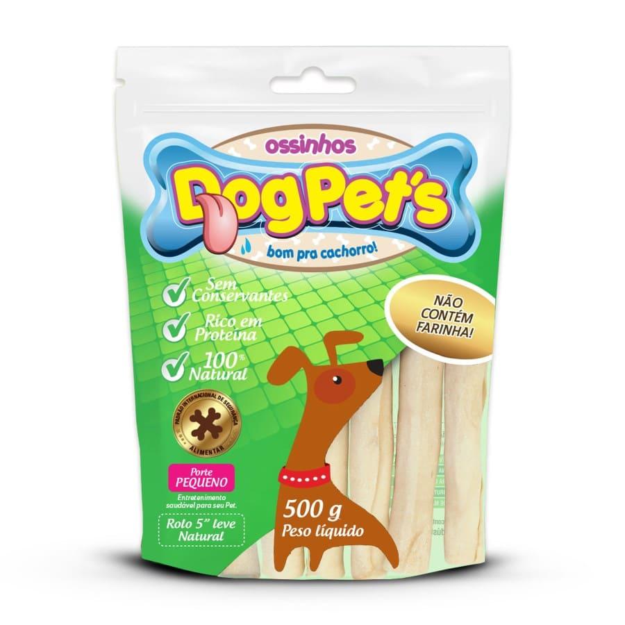 Ossinhos DogPets Rolo Natural 11cm Cães Pequeno Porte 500g
