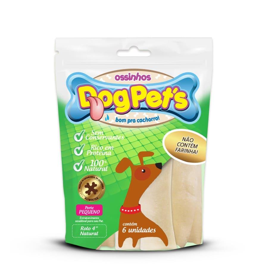 Ossinhos DogPets Rolo Natural 9cm Cães Pequeno Porte 2 uni