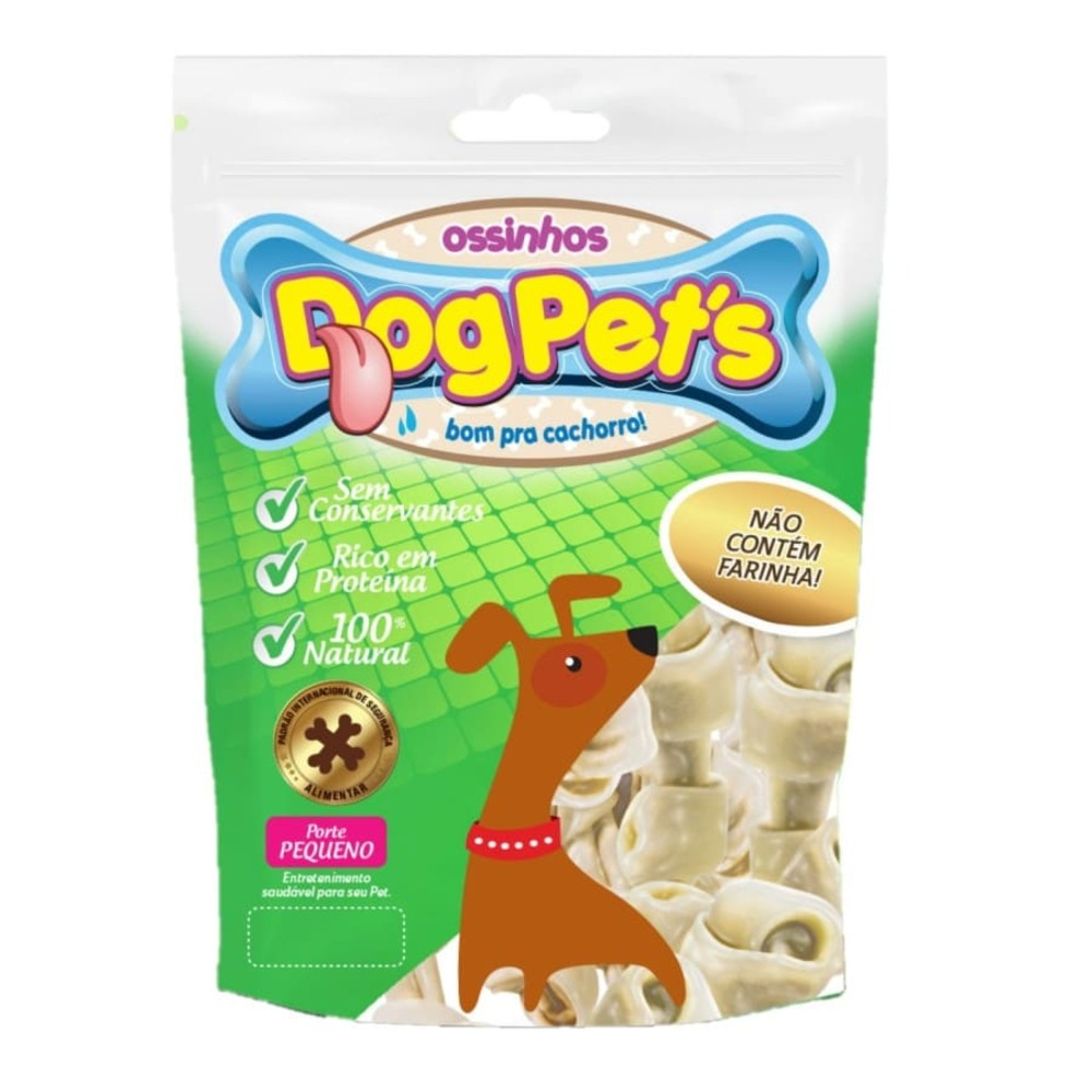Ossinhos para Cães DogPets Osso Mini 6cm Natural 500g