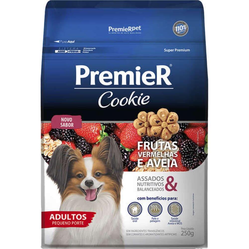 Petisco Biscoito para Cães Raças Pequenas Premier Cookie Frutas Vermelhas 250g