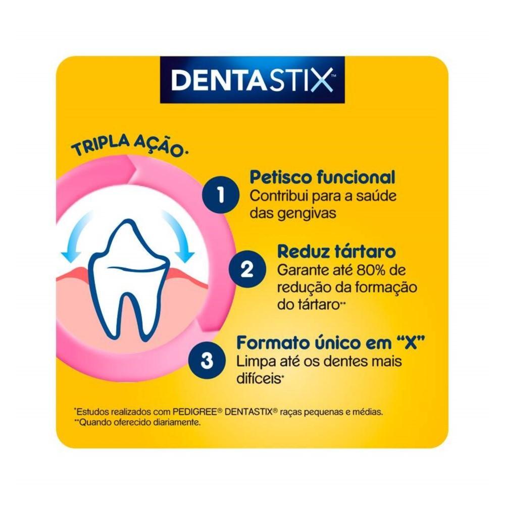 Petisco Pedigree Dentastix Cuidado Oral Para Cães Adultos Raças Grandes 7 unidades