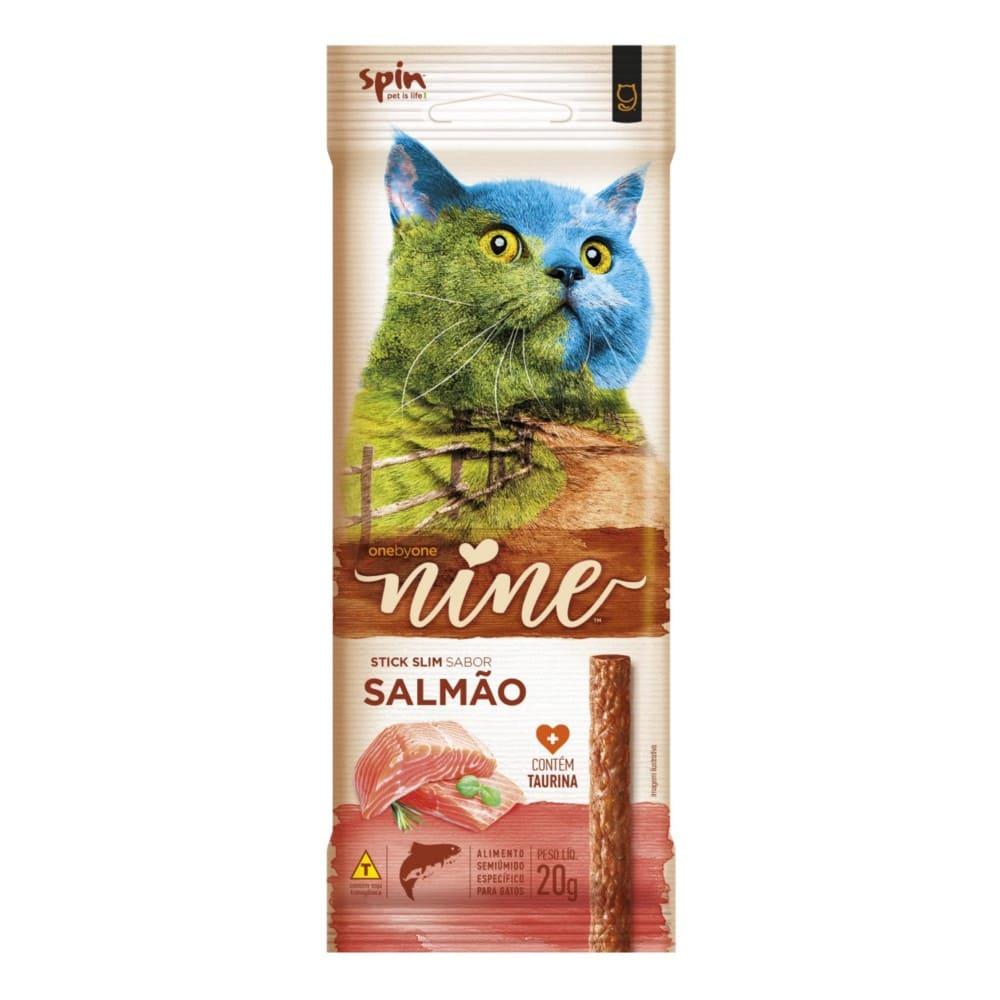 Petisco Sticks Slim para Gatos Spin Onebyone Nine Salmão 20g