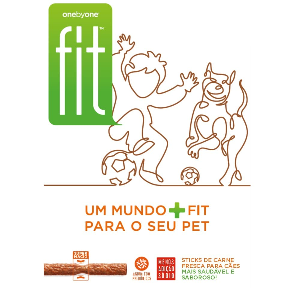 Petiscos para Cães  Spin Onebyone FIT Goiaba Couve Gergelim 50g