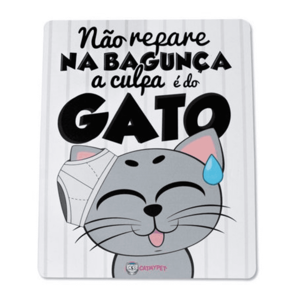 Placa Adesiva Decorativa CatMyPet A culpa é do gato