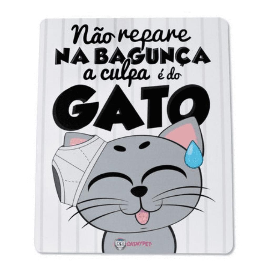 Placa Adesiva Decorativa CatMyPet A culpa é do gato