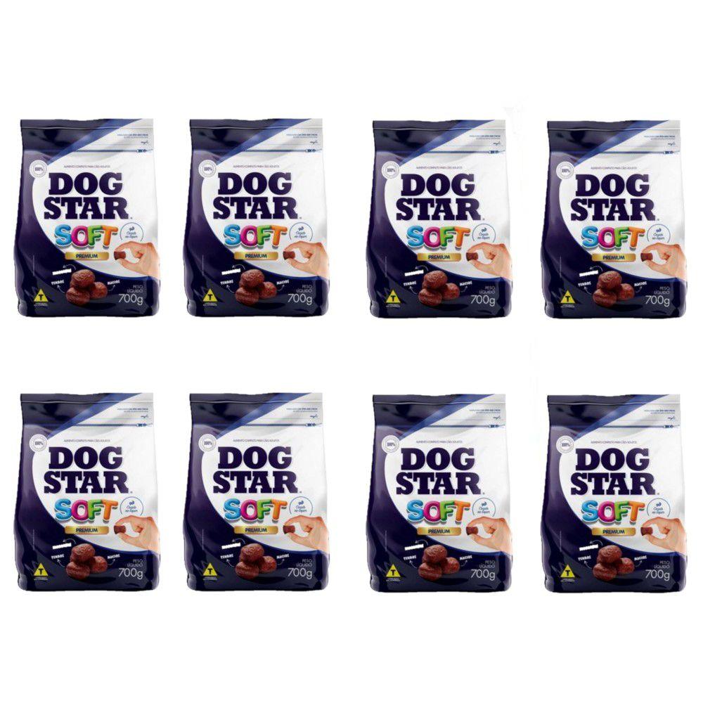 Ração DogStar Soft Cão Grãos Macios e Semiúmidos 700gr 8 uni