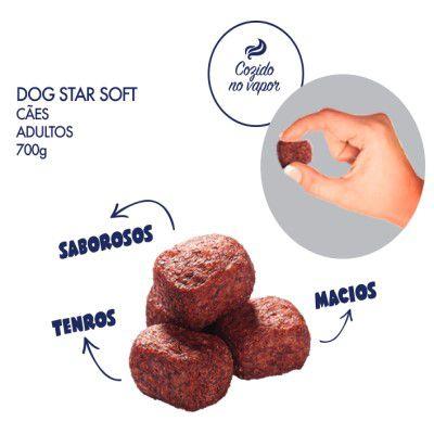 5,6Kg de Ração DogStar Soft Cão Grãos Macios e Semiúmidos de 700gr * Caixa com 8 unidades