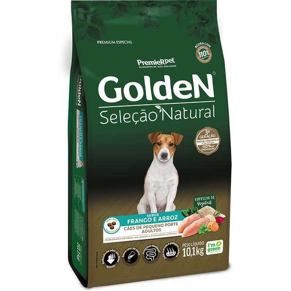 Ração Golden Premier Pet Seleção Natural Cães Raças Pequenas 10,1 KG
