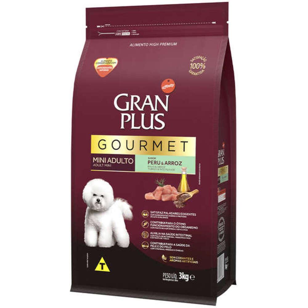 Ração para Cães Raças Pequenas GranPlus Gourmet Peru e Arroz 3Kg