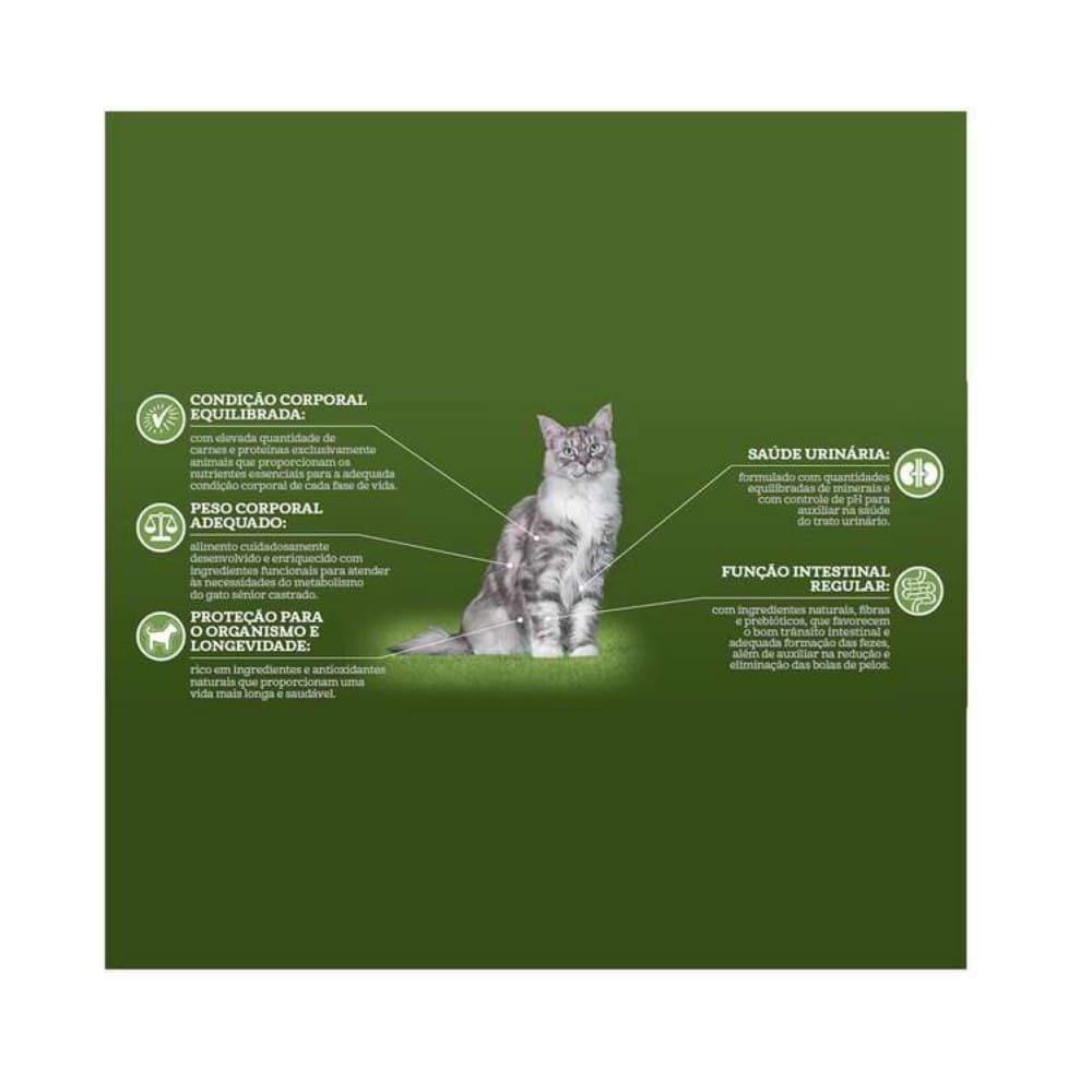 Ração Para Gato Senior Castrado Guabi Natural Frango e Arroz Integral 7,5KG