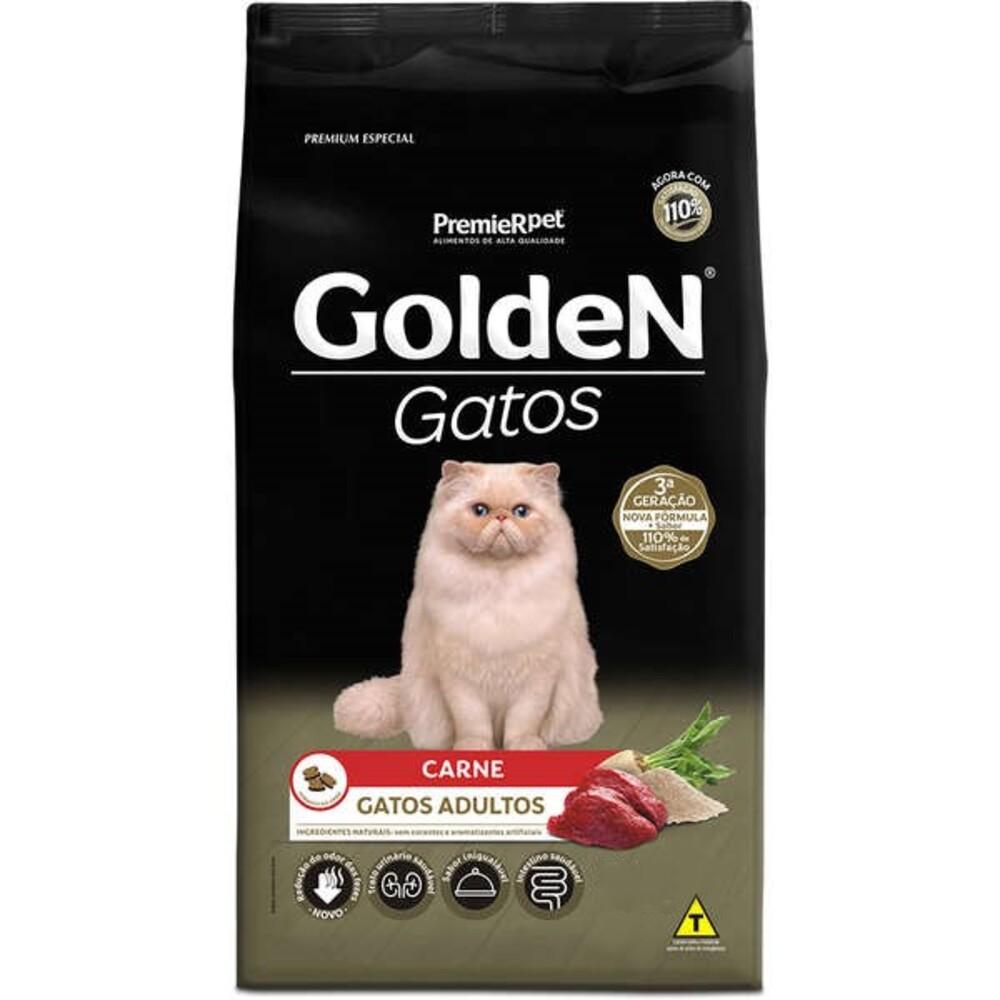 Ração para Gatos Golden Carne 10,1Kg