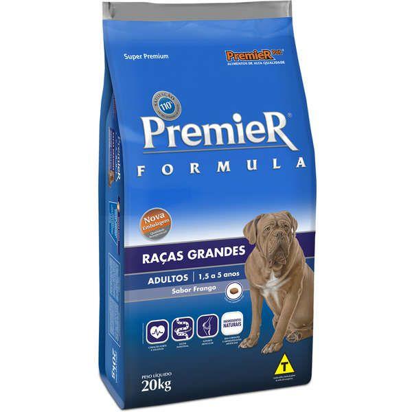 Ração Premier Cães Raças Grandes e Gigantes Frango 20Kg