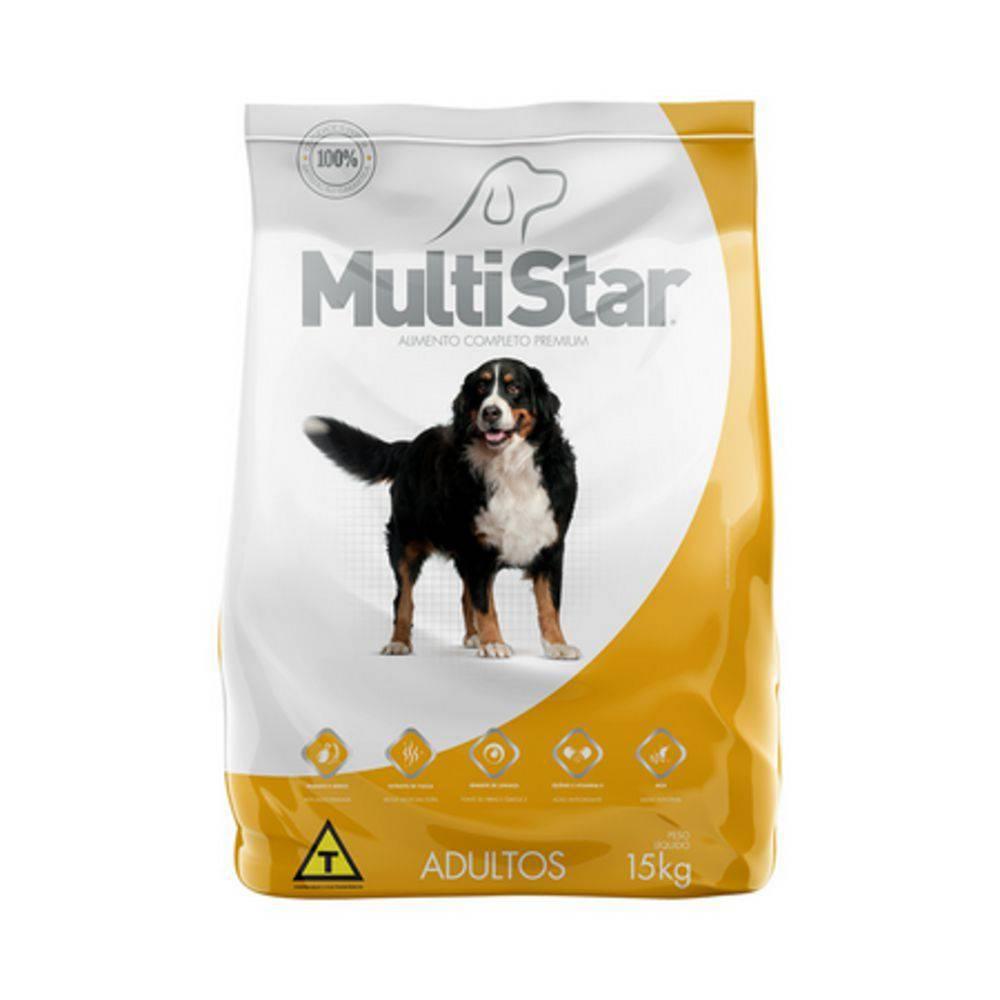 Ração Premium Para Cães Adultos Multi Star 15 Kg