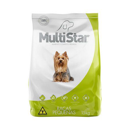 Ração Premium para Cães Adultos Raças Pequenas Multi Star 15 Kg