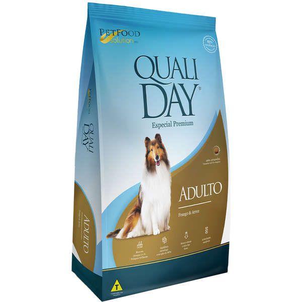 Ração Qualiday Premium Especial Cães Adultos Frango e Arroz Raças Médias e Grandes 15Kg