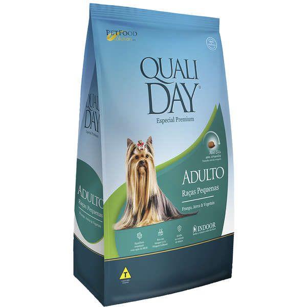 Ração Qualiday Premium Especial Cães Raças Pequenas Frango, Arroz e Vegetais 15Kg