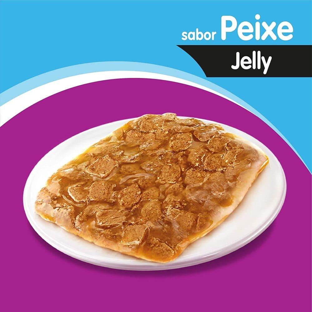 Ração Úmida para Gatos Whiskas Sachê Jelly Peixe 85g
