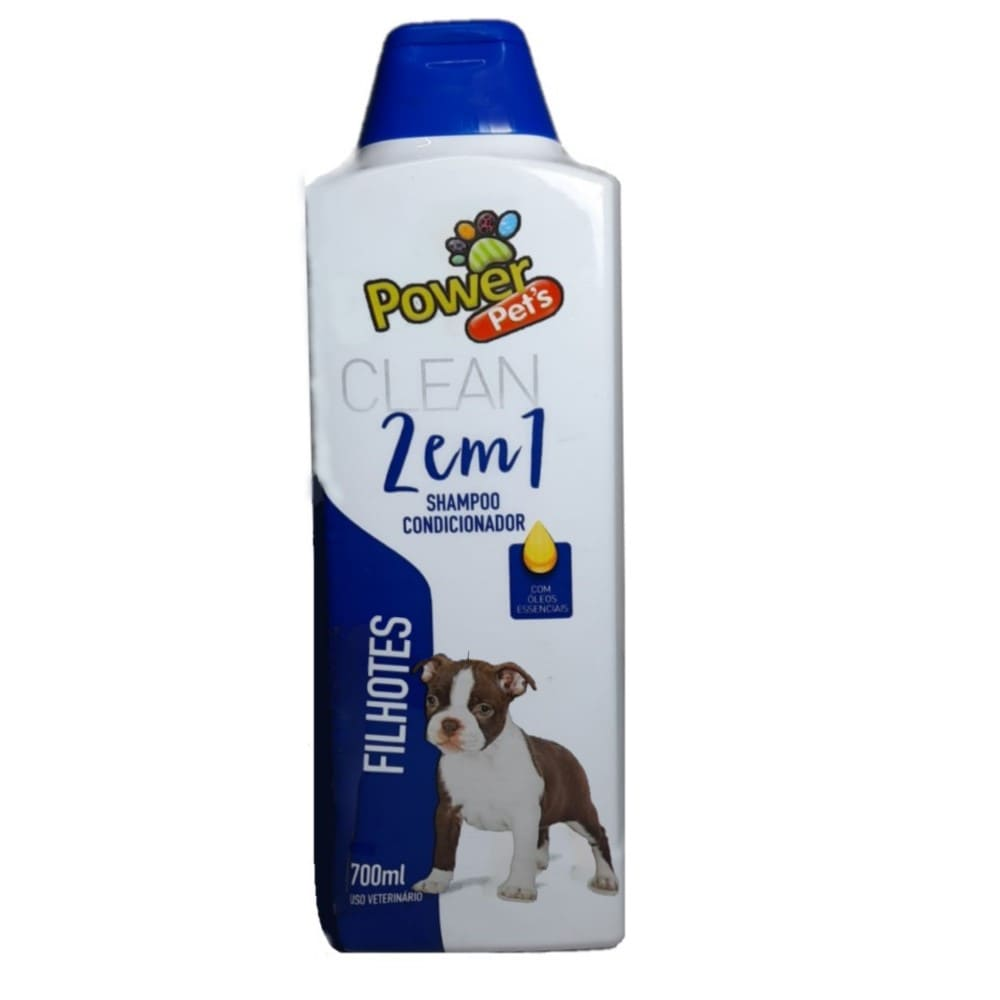 Shampoo e Condicionador para Cães Power Pets Clean Filhote 700ml