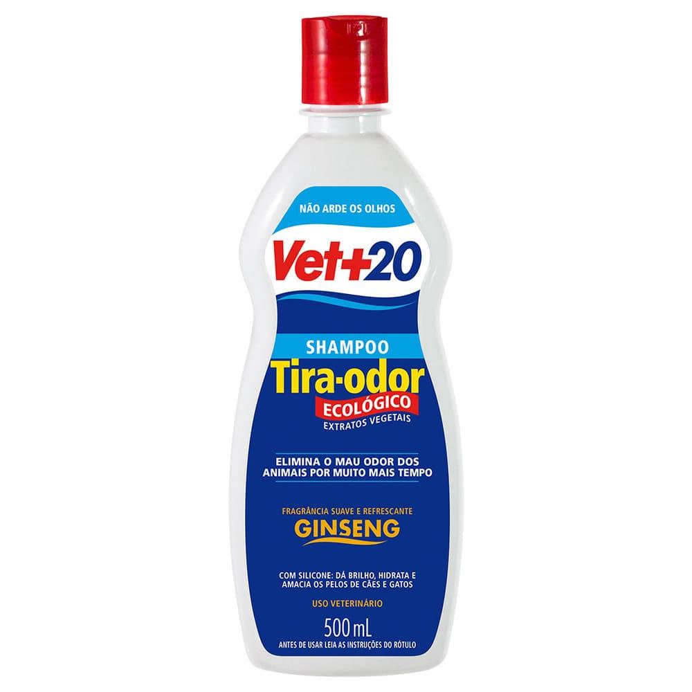 Shampoo para Cães e Gatos VET+20 Ginseng 500ml