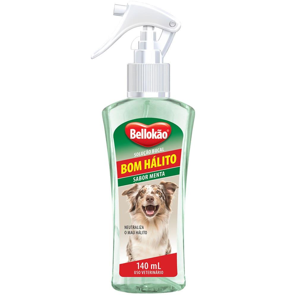 Solução Bucal Spray para Cães Bellokão Bom Hálito Menta 140ml