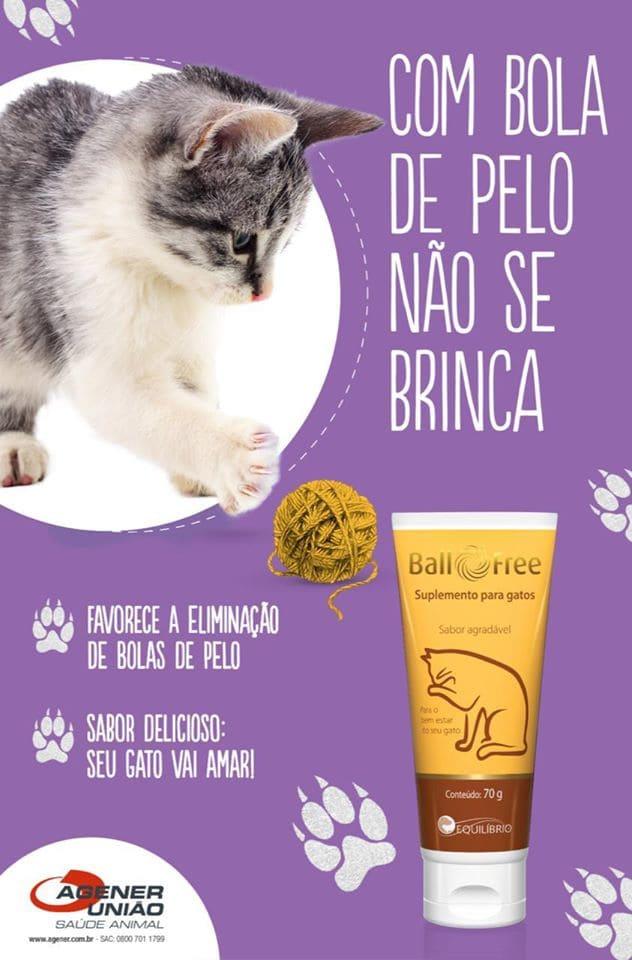 Suplemento para Gatos Agener União Ball Free Pasta Oral 70g