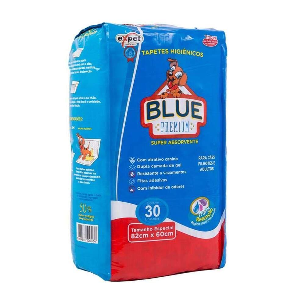 Tapete Higiênico para Cães Expet Blue Premium (82cmx60cm) 30un
