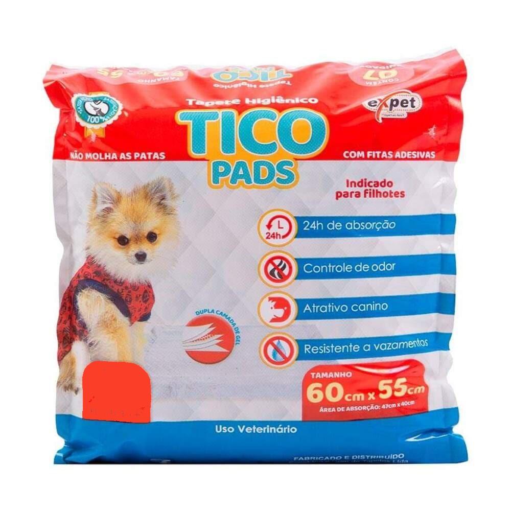 Tapete Higiênico para Cães Expet Tico Pads (60cmx55cm) 50un