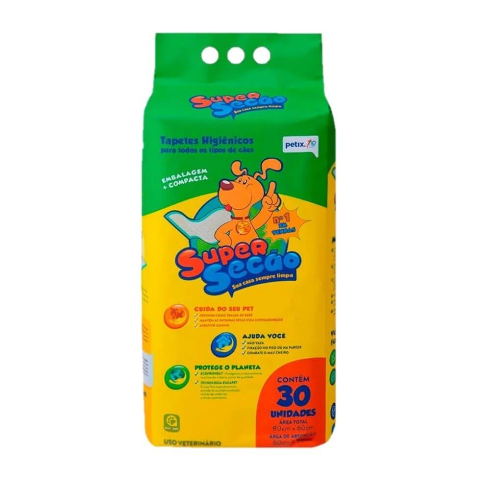 Tapete Higiênico para Cães Petix Super Secão 30 unidades