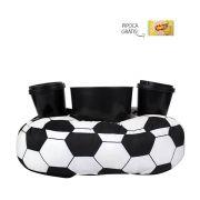 Almofada Porta Pipoca Futebol Kit 1 Balde 2 Copos