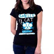 Camiseta Feminina Baby Look Smelly Cat