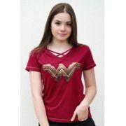 Camiseta Feminina Wonder Woman Mulher Maravilha DC Oficial