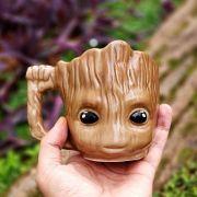 Caneca 3D Baby Groot Guardiões da Galáxia Oficial Marvel