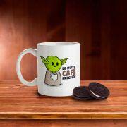 Caneca Mestre Yoda Muito café você deve beber