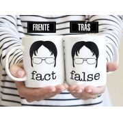 Caneca Dwight False Fact The Office