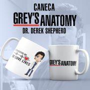 Caneca Grey's Anatomy Derek Shepherd