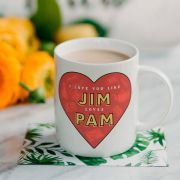 Caneca Jim Loves Pam Office